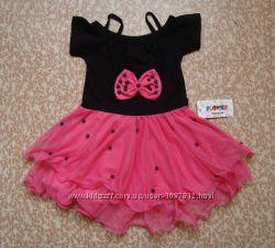 Нарядное платье для девочки Бант Малиновое рост 98-116 см