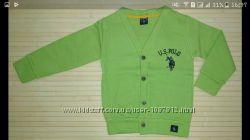 Кардиган для Мальчика на Пуговицах U. S. Polo пр-во Турция  Р. 104-140 см
