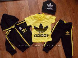 Спортивный костюм Adidas тройка Супер классный по качеству Рост 74-116 см