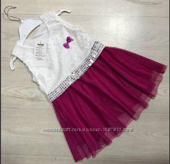 Нарядное платье для девочки Малиновое рост 98-116 см