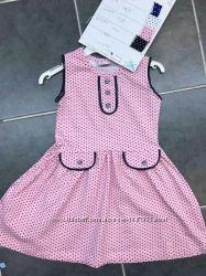 Сарафан в горошек для Девочки светло-розовый Рост 110-140 см