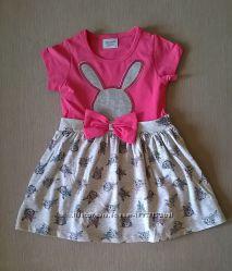 Платье для Девочки Зайка Цвет Малина Рост 92-110 см