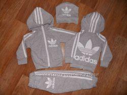 Детский Спортивный Костюм Adidas Двойка с капюшоном Рост 74-122 см
