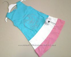 Сарафан для Девочки Слоник Голубой Рост 110-134 см
