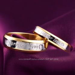 Кольцо Forever love цена за 2 штуки парные влюбленным