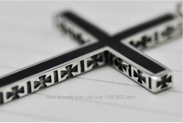 Большой эксклюзивный серебряный Крест Винтаж готика серебро 925
