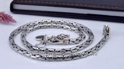 Мужская серебряная цепочка Дракон 6 мм. 95, 42 гр. 56 см