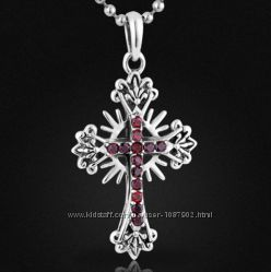 Серебряный двухсторонний Крест 9, 6 гр, Королевский крест 40 мм 5, 5 гр