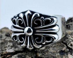 Серебряное большое кольцо Chrome Hearts 14, 36 гр эксклюзив 21 размер