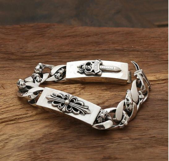 Мужской серебряный браслет Меч и Кельтский Крест Chrome Hearts