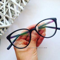 Имиджевые очки кошачий глаз, компьютерные