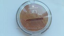 Essence Sun Club Shimmer Bronzing Powder новая пудра