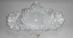 Красивое украшение на гульку из лент