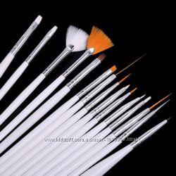 Набор кисточек для росписи ногтей 15шт
