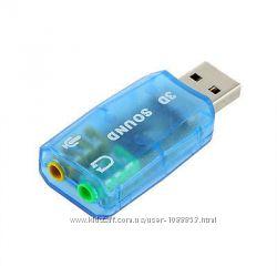 Внешняя USB звуковая карта 3D Sound