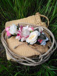 Летний пояс с цветами эксклюзив