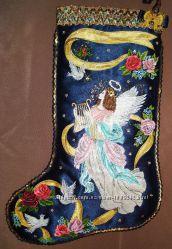 Рождественскиеновогодние сапожки для подарков и украшения на заказ
