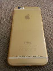 Силиконовый золотой iphone 64. 7дюйма