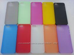 Ультратонкий прозрачно-матовые чехлы к Samsung iPhone 55s. Модель 58i5. Ко