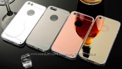 Cиликоновый зеркальный чехол для iphone 4 4s 5 5s 5se 6 6s