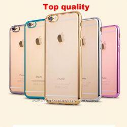 Силиконовый чехол с разноцветными ободами iphone 5 5S 6 6S 6 7