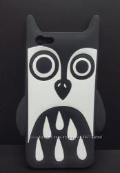 Силиконовый чехол 3D для iPhone 5 5s 6 6s Сова и Зебра