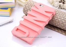 Силиконовый чехол  Pink для iphone 5 5S 5SE 6 6S Victorias Secret 3D