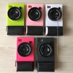 Пластиковый чехол Фотоаппарат в упаковке iphone 4 4s 5цветов