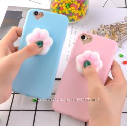 Чехлы силиконовые для айфон 5 5s 6 6s 6pl 7 8 анти стресс