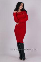 7 моделей и более 15 расцветок теплые вязаные платья