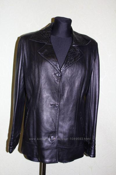 Натуральная кожаная курточка р. 46-48 пиджак