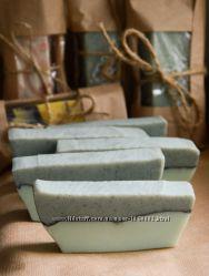 Натуральное мыло ручной работы Можжевельник-Лимон с голубой глиной