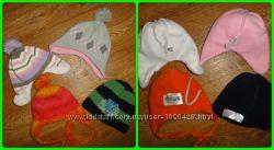 Теплые шапочки на флисе р. 48-50