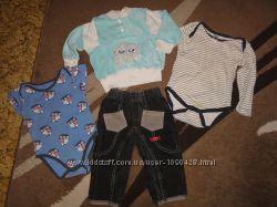 Пакет теплых вещей на мальчика от рождения до года