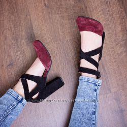 Стильные туфли из натуральной Кожи и Замши