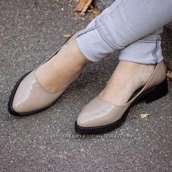 Туфли из натуральной лакированной кожи или замши Цвета на выбор р. 36-41