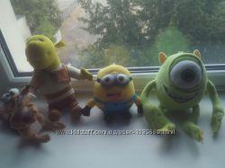 мягкие игрушки-любимые герои, кубики