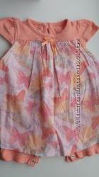 Ромпер, бодик-платье для малышки 3-6 мес