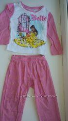 Красивые хлопковые пижамы фирмы Дисней на девочку от 12 мес до 2-х лет.