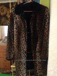 Осеннее весеннее пальто леопардовое