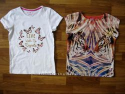 фирменные футболки и майки девочке на 6-9 лет ч1