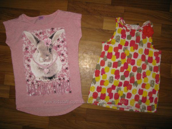футболки и майки девочке на 6-9 лет  ч2