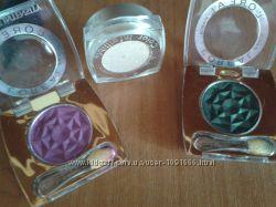 Лореаль Loreal тени зеленые изумрудные серебристые пурпурные оригинал