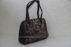 Стильная коричневая женская сумка Balina