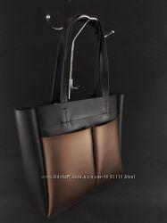 Стильная черная женская сумка, две расцветки