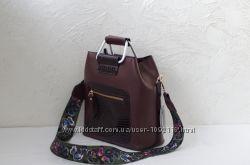 Женская бордовая сумочка из экокожи