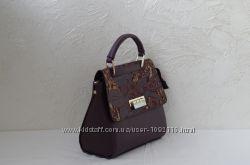 Стильная бордовая женская сумочка