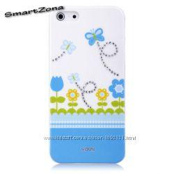 Чехол накладка Vouni Swarovski для на Айфон iPhone 5 5S с кристаликами