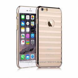 Отличный Чехол Vouni полосатик для на Айфон iPhone 6 Plus и ещё 3 цвета