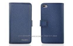 Синий Чехол книжка на магните Nuoku для на iPhone 44S